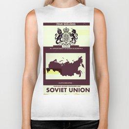 Soviet Union vintage style map cover Biker Tank