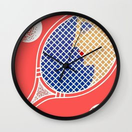 "Art Deco Design ""Love – Tennis Suite"" Wall Clock"