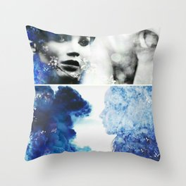 Flowers in the meadow Throw Pillow