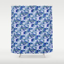 Mermaid Tale Pattern Shower Curtain