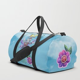 Angel Kitty (Turquoise) Duffle Bag
