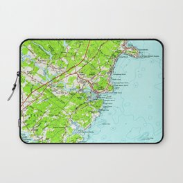 Vintage Map of York Maine (1956) Laptop Sleeve