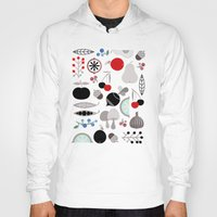 50s Hoodies featuring Mushroom Berries Nuts and Fruits / Classic 50s pattern by In The Modern Era