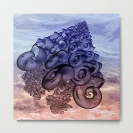 shell pattern -2- Metal Print