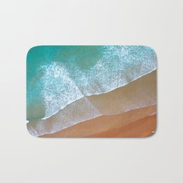 Aerial surf day, Turquoise sea, ocean, coast, Atlantic, Portugal, beach, waves, sea, prints, project Bath Mat