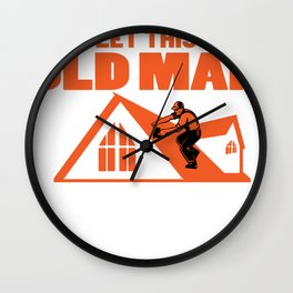 Roofer Rooftop Mechanic Graphic Novelty Professional Gift Wall Clock