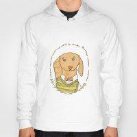 dachshund Hoodies featuring Dachshund by MariyArti