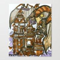 bioshock Canvas Prints featuring Bioshock Tea by Dara Gold