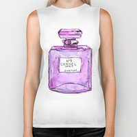 perfume Biker Tanks featuring perfume purple by watercolor & ink