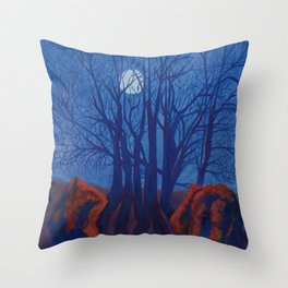 Adam & Eve - Avebury, Wiltshire, England Throw Pillow