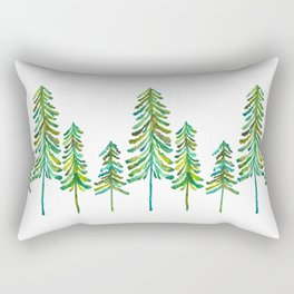 Pine Trees – Green Palette Rectangular Pillow