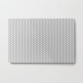 Black and White Basket Weave Shape Pattern 2 - Graphic Design Metal Print