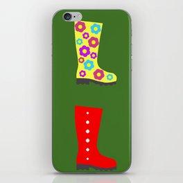 Coloured Wellies iPhone Skin