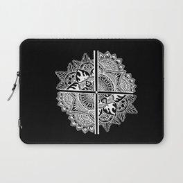 Mandala de la nuit Laptop Sleeve