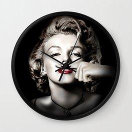Marilyn M. Mustache Wall Clock