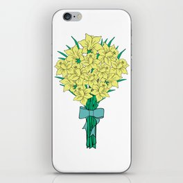 Bouquet of yellow narcissi iPhone Skin