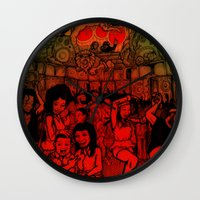 rave Wall Clocks featuring Jungle Rave by Von Grey