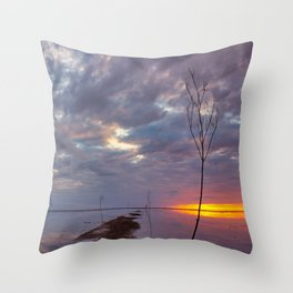 Heavy Skies over Mandø Ebbevej Throw Pillow