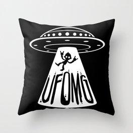 UFOMG Throw Pillow