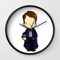 jack Wall Clocks featuring JACK by Space Bat designs