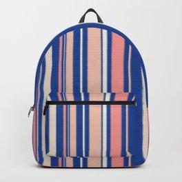 Pink Blue and Orange Stripes Backpack