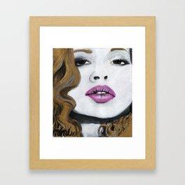 Lady Framed Art Print