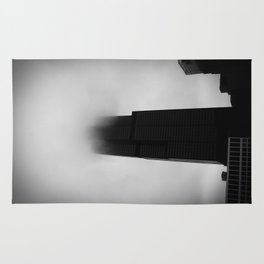 Sears Tower in Fog Chicago Black and White Photo Rug