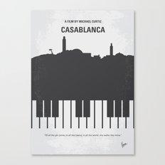 No192 My Casablanca minimal movie poster Canvas Print