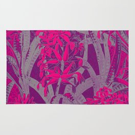 Colorful PINK Flowers Wallpaper design Rug