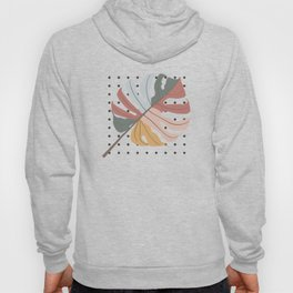 Colorful Monstera Leaf Hoody