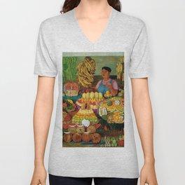 Las vendedoras de frutas by O. Costa Unisex V-Neck