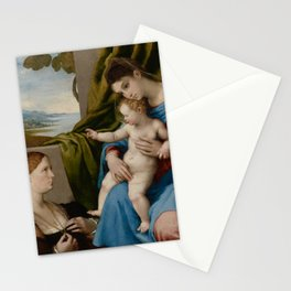 Lorenzo Lotto - Madonna and Child with Two Donors Stationery Cards