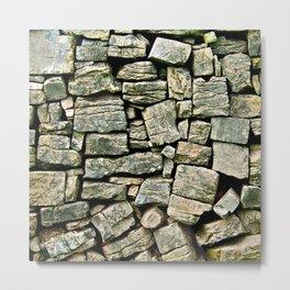 Stone Wall, Inishmore Metal Print