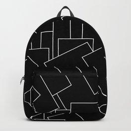 White Lines on Black I Backpack