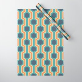 Retro-Delight - Humble Hexagons - Beach Wrapping Paper