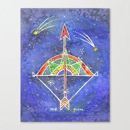 Zodiac Collection: Sagittarius Canvas Print
