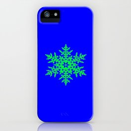 Snowflake in Blue Field, Gift iPhone Case