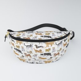 Dogs Fun Watercolor Fanny Pack