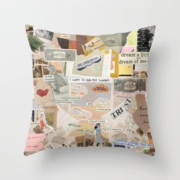 Layers of Old Paper Throw Pillow