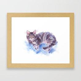 Azure Purr Framed Art Print
