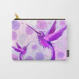 Hummingbird Spirit Purple Watercolor Carry-All Pouch
