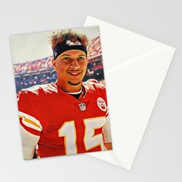 Chiefs Quarterback Patrick Mahomes Stationery Cards