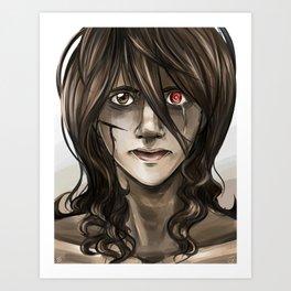 Portrait of Uzuki  Art Print