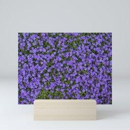 Tiny Purple Flowers Mini Art Print