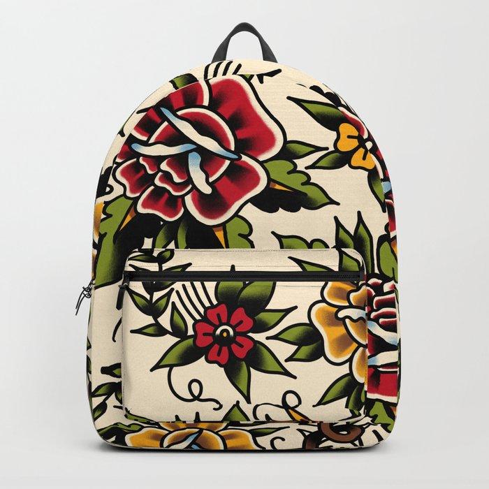 Flower tattoo Backpack