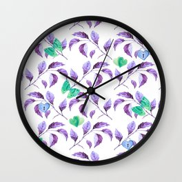 Passionately Purple Spring Time Daze - Bagaceous Wall Clock