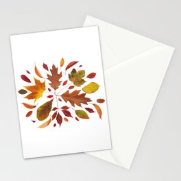 Autumn Leaves Collage Stationery Cards