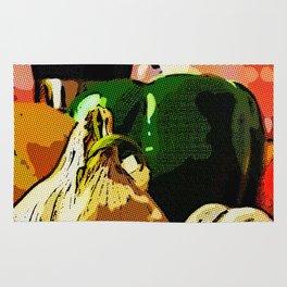 Comic Book Garlic Rug