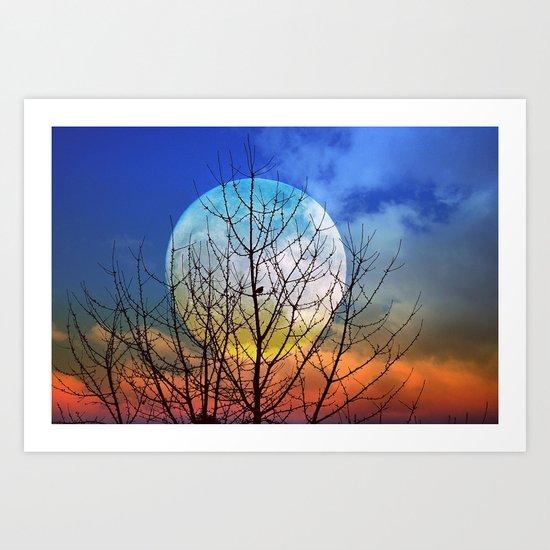 The moonwatcher Art Print