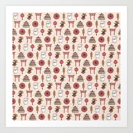 Japanese pattern Art Print